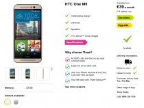 HTC One M9 now in stock at Three UK