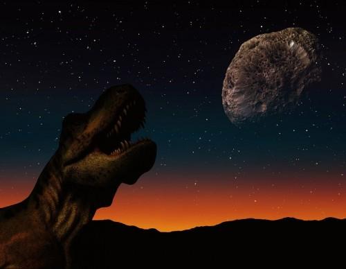 Asteroid heading towards a dinosaur-inhabited Earth