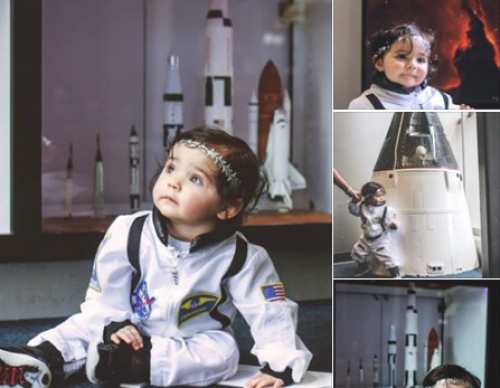 Little Astronauts Put on Their Suits in Anticipation for SpaceX Launch