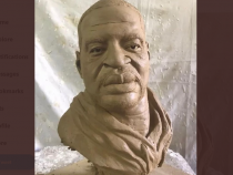 George Floyd Immortalized by Haitian Artist Woodly Claymitte: BlackLivesMatter