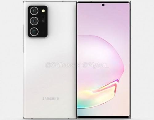 Galaxy Note 20 Plus render