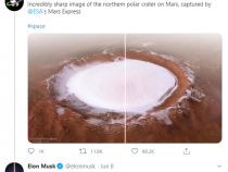 Elon Musk Confirms Pictures of Ice-Filled Mars Circulating the Internet