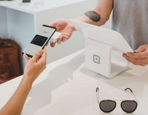 Mobile banking used to pay