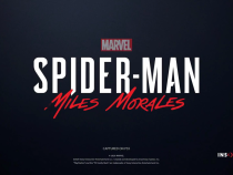 Spider-Man: Miles Morales title card from the announcement trailer