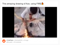 One Piece Fan draws Ace Using Fire