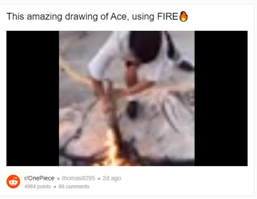 One Piece Fan draws Ace Using Fire