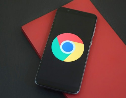 Chrome on a smartphone