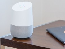 Google Home on a table