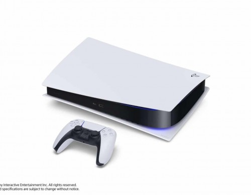 PlayStation 5 on its side