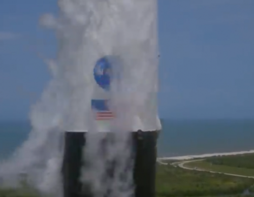 [New Video] See the Close Up of the Proud SpaceX Crew Dragon as it Flaunts the NASA Logo and the American Flag