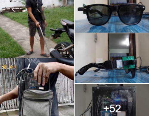 College Student Makes Walking Stick with Audio Aid for the Visually Impaired for School Project