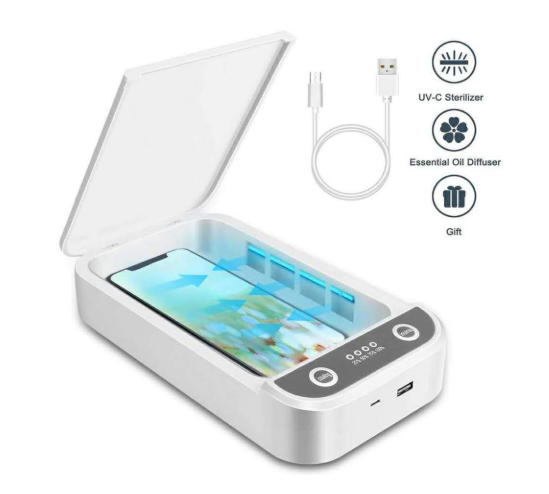 On the Go Portable Smartphone Sanitizers: Keep Yourself Safe from Harmful Bacteria, Germs, and Viruses