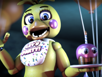 Toy Chica from one of the Five Night at Freddy's games