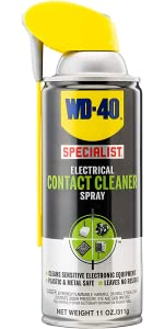 WD-40 Specialist Electrical Contact Cleaner Spray - Electronic & Electrical Equipment Cleaner. 11 oz. (Pack of 1)