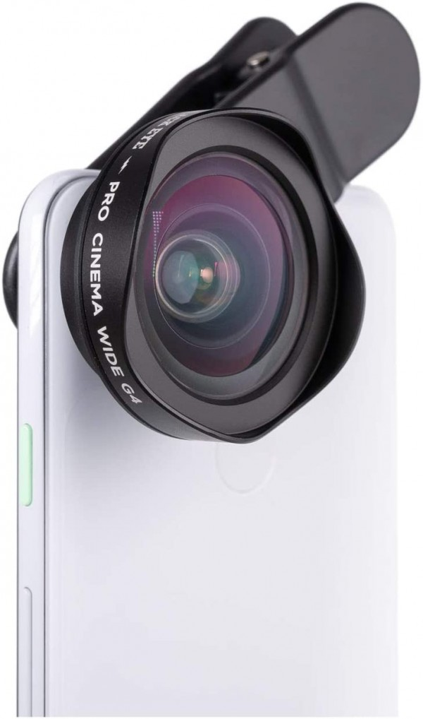 Pro Cinema Wide G4 Phone Camera Lens Compatible with iPhone, iPad, Samsung Galaxy, and All Camera Phone Models - G4CW001