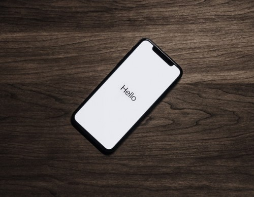 iPhone on a table