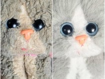 Kitty Kitty Kitten Toy (before and after restoration)