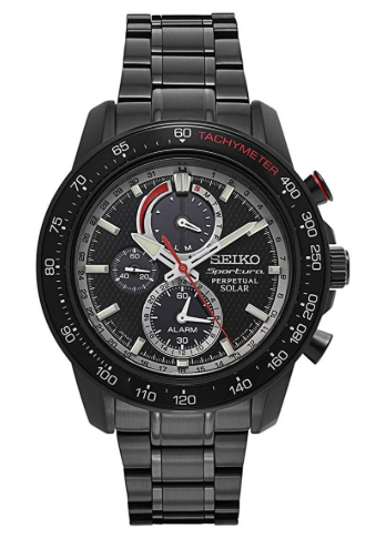 Seiko Men's Sportura Solar Perpetual Chronograph Watch