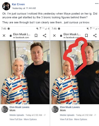 [Spotted] Maye Musk's Picture With Elon Musk Shows 3 Hidden Bionic Figures Behind: What Could This Mean?