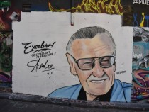 Stan Lee mural in Melbourne
