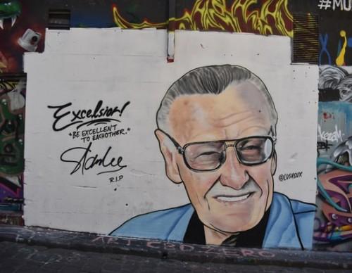 Stan Lee mural in Melbourne