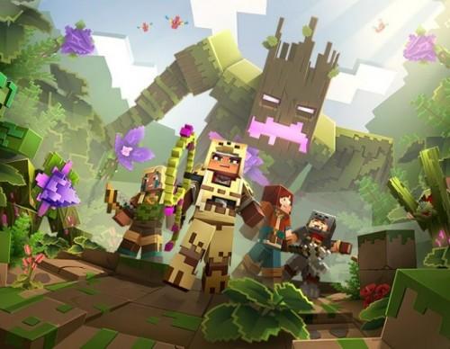 Minecraft Dungeons Jungle Awakens official art