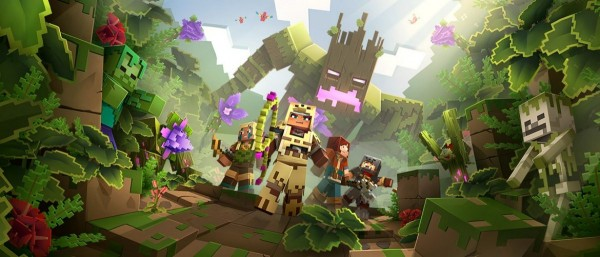 Minecraft Dungeons Jungle Awakens official art