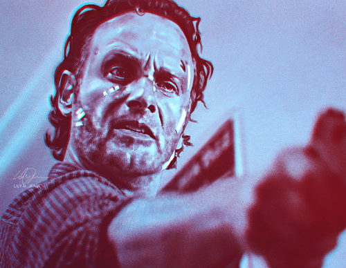 Fan art of The Walking Dead's Rick Grimes
