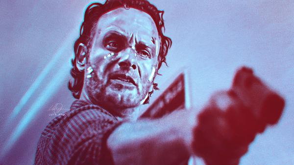 Fan art of The Walking Dead's Rick Grimes