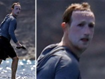 Mark Zuckerberg with Too Much Sunscreen