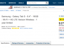 Samsung Galaxy Tab S 8.4 LTE now $279.99 on Best Buy (more than $200 off)