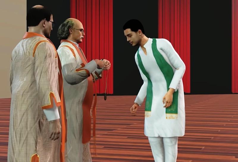 Avatars used in online graduation ceremony