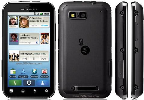 Motorola Defy: Water Resistance Early On