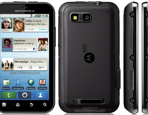 Motorola Defy: Water Resistance Early On
