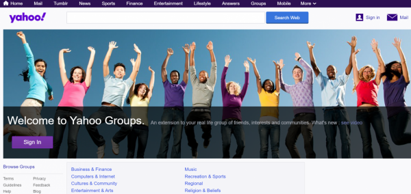 Say Goodbye to Yahoo Groups On December 15