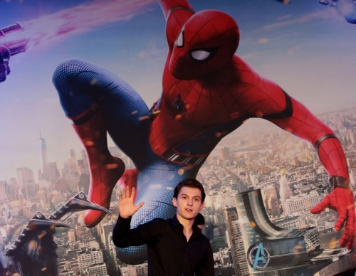 Tom Holland Attends South Korea Premiere of Spider-Man: Homecoming in 2017