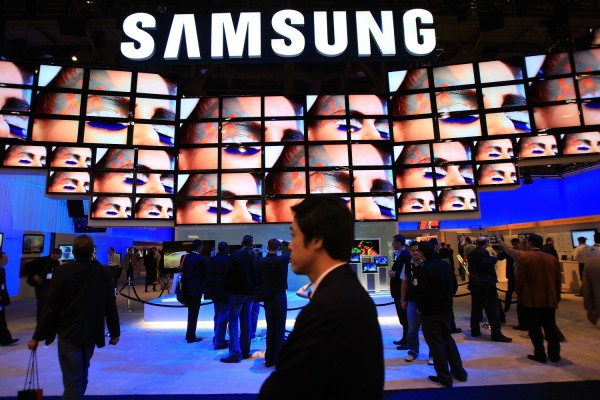Samsung Logo on Screen