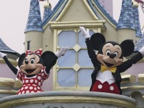 Mickey Mouse and Minnie Mouse Perform at Disney Park