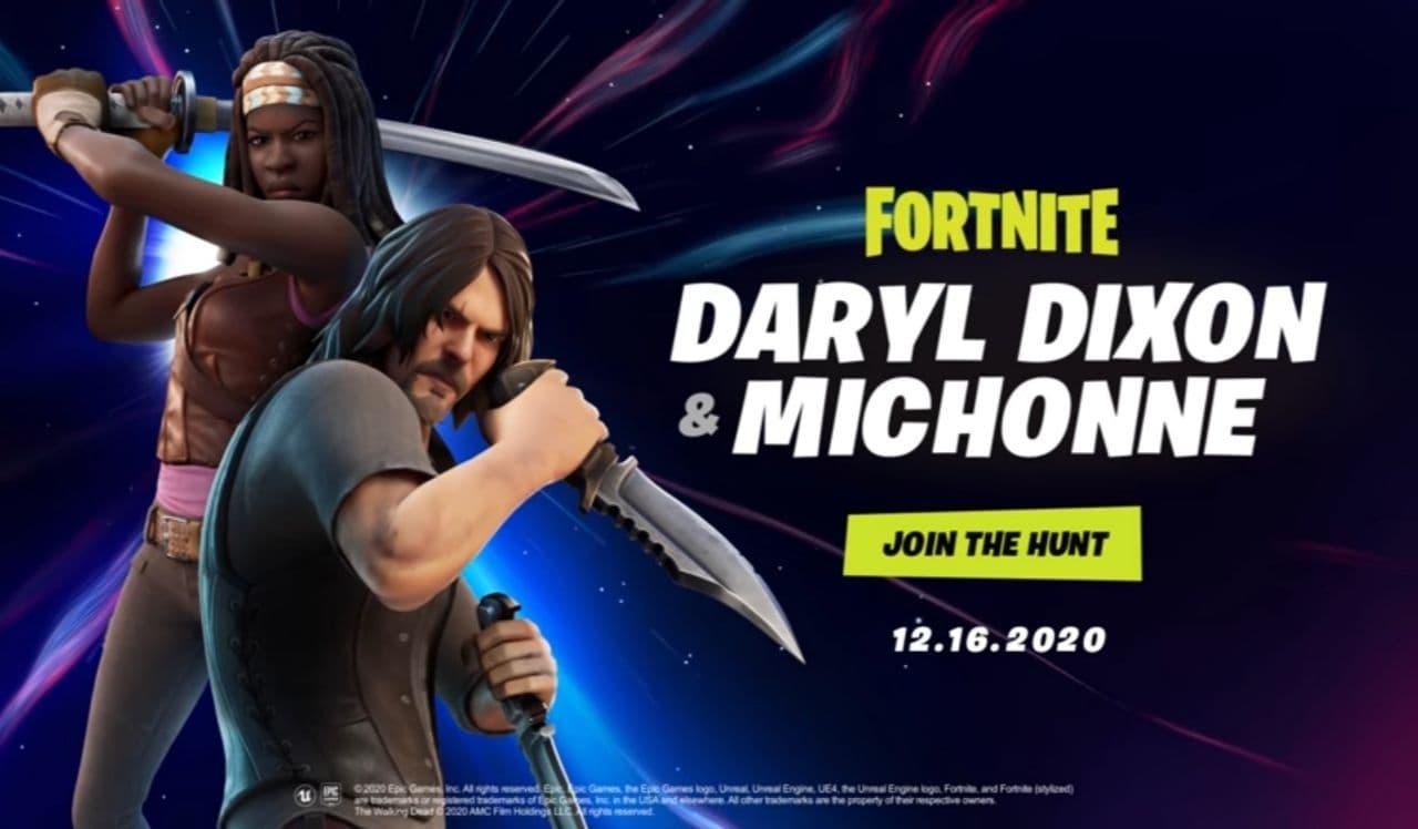 Fortnite Daryl Dixon and Michonne