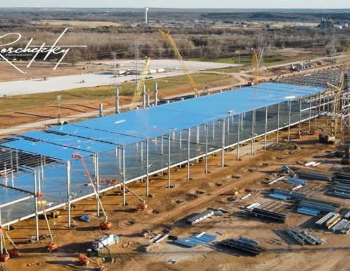 View of Tesla Gigafactory in Texas