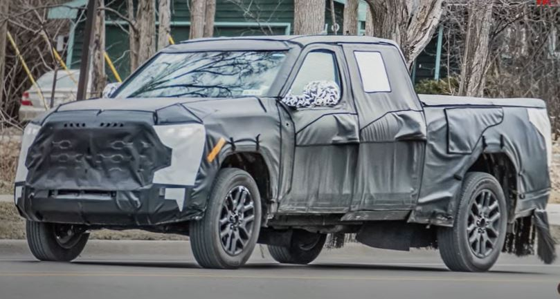2022 Toyota Tundra Leak Photos Show New Rear Suspension—Air Suspension Option Not Happening?