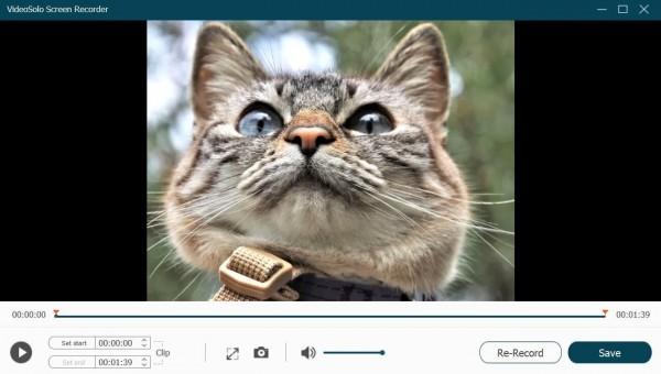 Preview Recording in VideoSolo Screen Recorder