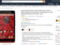 Motorola Droid Ultra unlocked on Amazon