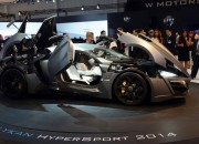 Dubai-based W Motors displays the Lykan Hypersport successor, the Fenyr Supersport at the 2015 Dubai International Motor Show.