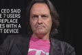 John Legere, chief executive officer and president of T-Mobile US