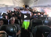A group of students from Colorado College are under investigation by the FAA for filming a Harlem Shake video on an airplane.