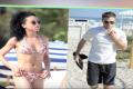 Robert Pattinson Sun Bathe's With FKA Twigs On Beach