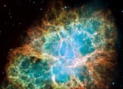 The Crab Nebula has what seems to be a dead star in space still glowing, which makes astronomers wonder if it is still alive.