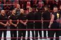 Brock Lesnar vs Goldberg Real match Between Security 15/11/2016 wwe raw