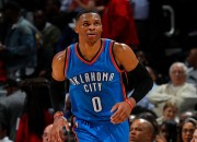 Thunders' Russel Westbrook has been gaining a lot of attention due to his impressive speed, hardcore strength and stunning dunks.